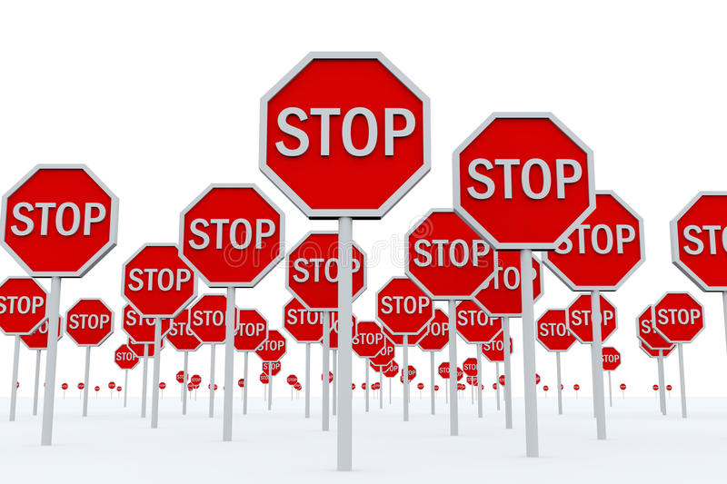 Download STOP Signs stock illustration. Image of traffic, warning - 19175482