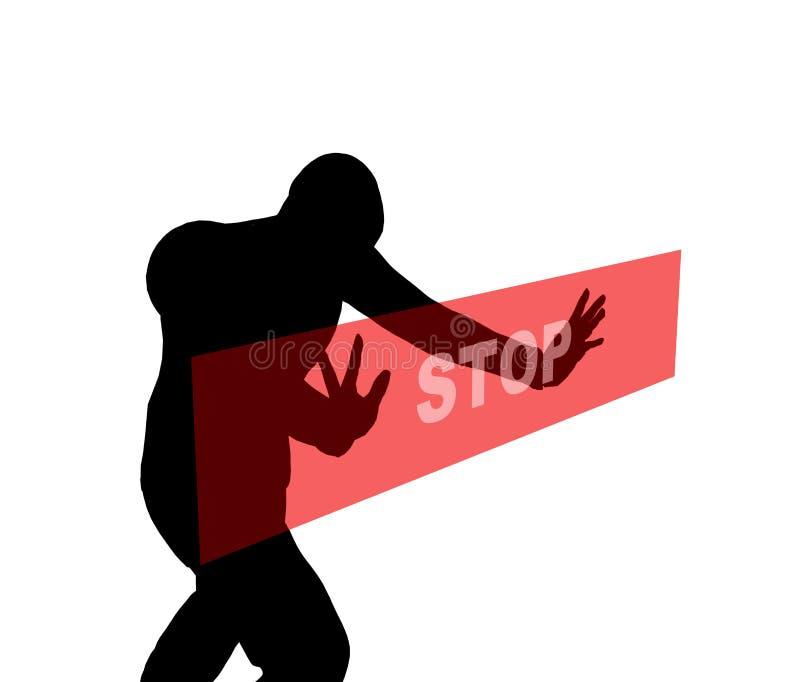 Stop silhouette 2 vector illustration