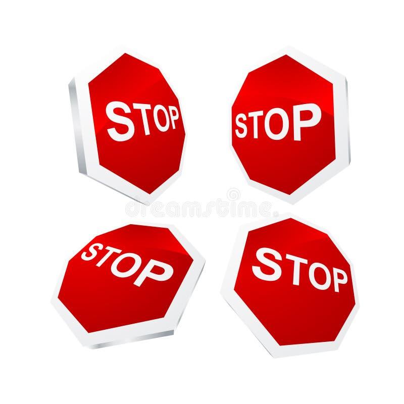 Download Stop sing stock vector. Illustration of road, halt, button - 10736210
