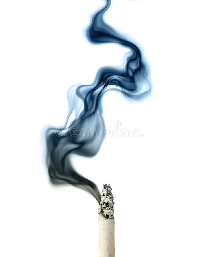 Stop smoking. Smoking cigarette on a white background royalty free stock photo