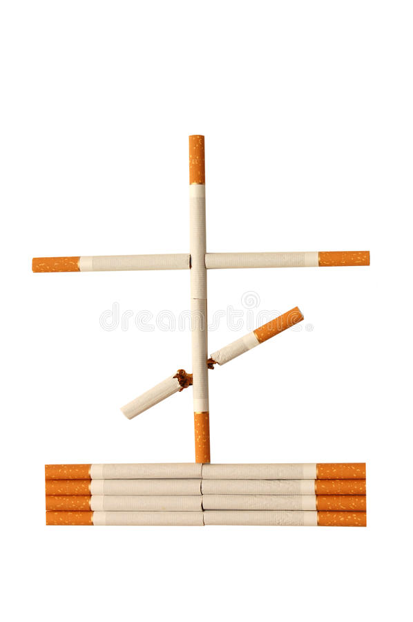 Stop smoking concept - danger of cigarettes royalty free stock photo