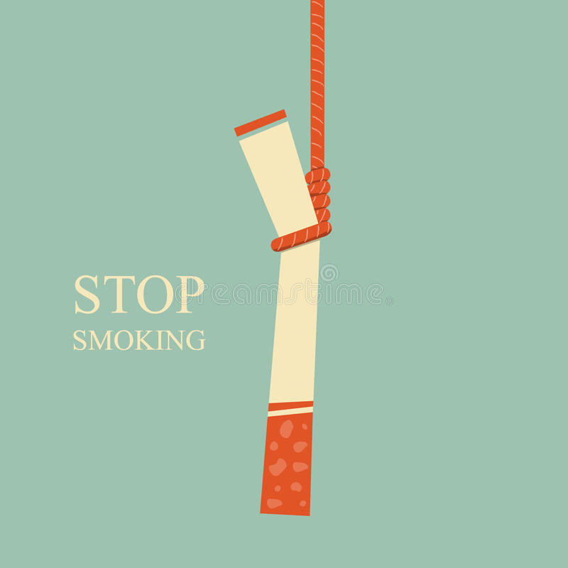 Stop Smoking. Non-smoking,Smoking has a negative effect on the body royalty free illustration