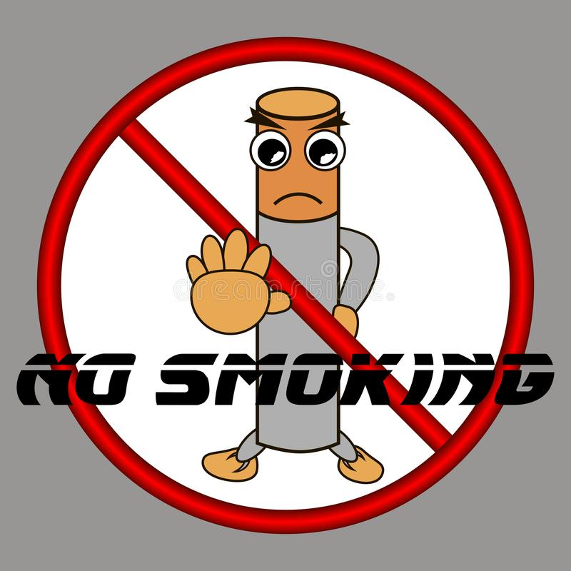 Stop, stop smoking is prohibited. vector illustration royalty free stock photography