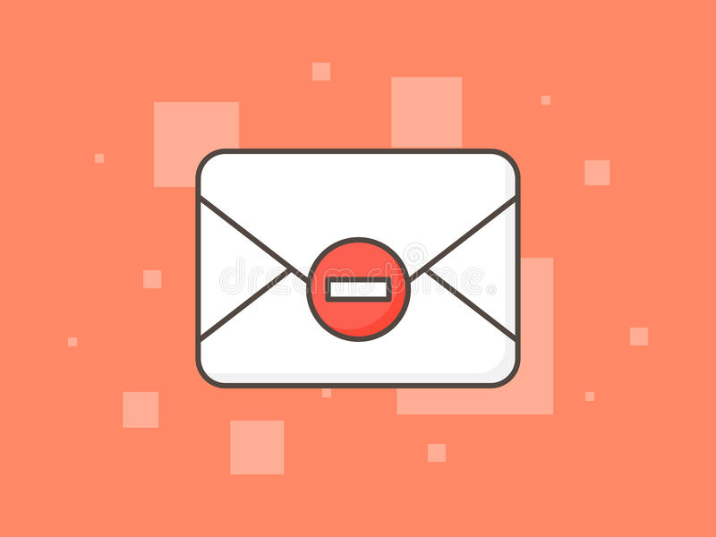 Stop spam creative concept vector illustration