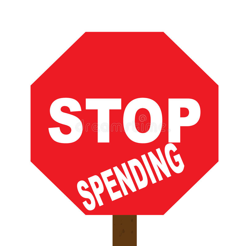 Stop spending sign royalty free stock photography