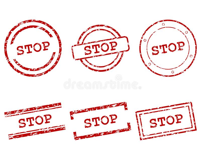Stop stamps royalty free illustration