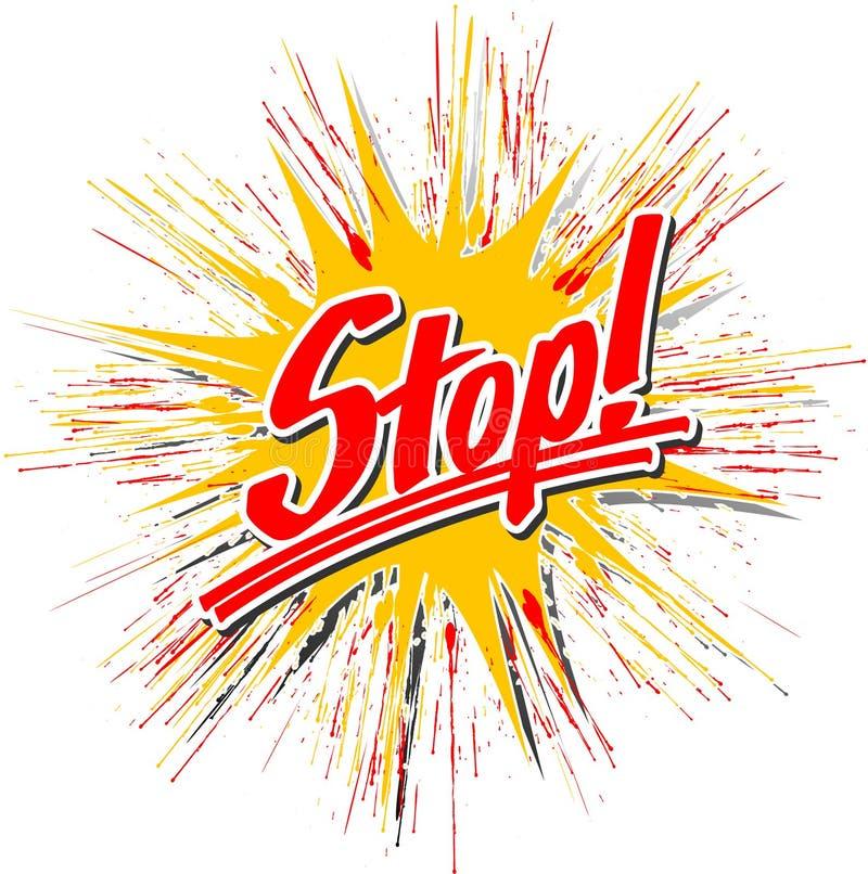 Stop_star_hs illustration stock