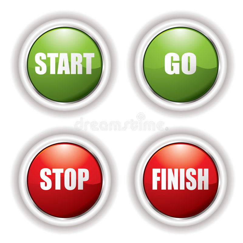 Download Stop start button stock vector. Image of connect, reflection - 8256616