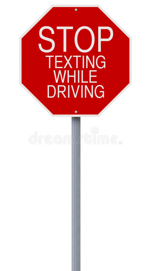 Stop Texting While Driving stock photography