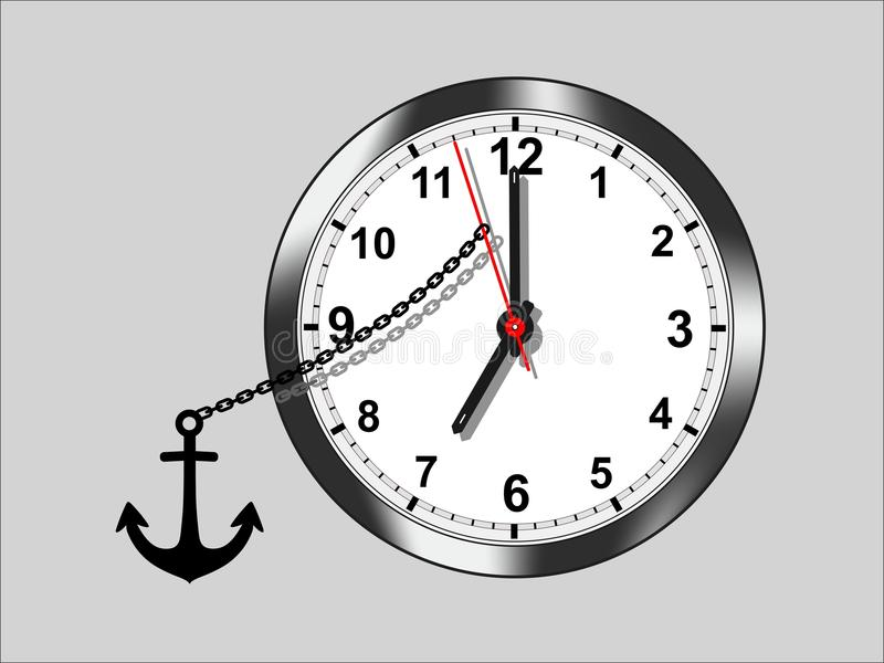 Stop the time - cdr format royalty free stock photography