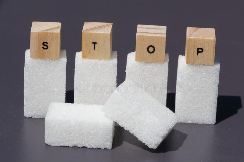 Stop to sugar royalty free stock images
