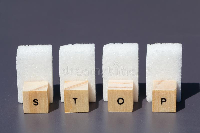 Stop to sugar royalty free stock photo