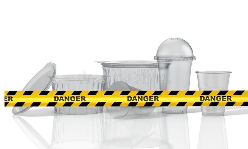 Stop using plastic.  3D Illustration stock illustration