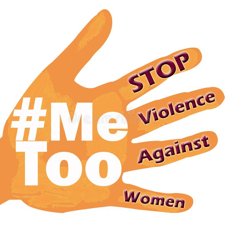 Stop violence against women Me too symbol grunge vintage stock images