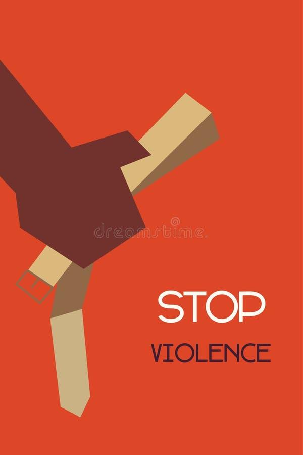 Stop violence. Minimal design of stop violence concept royalty free illustration