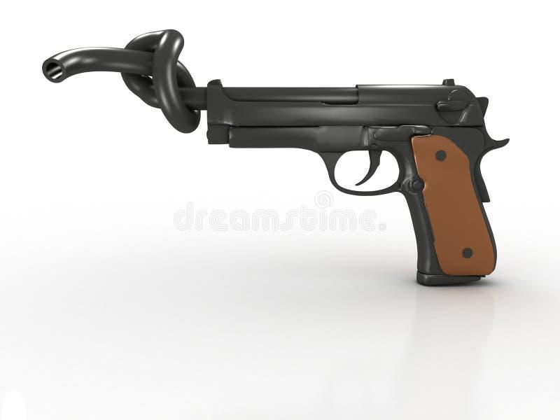 Stop Violence. Or No Gun Prohibited stock illustration
