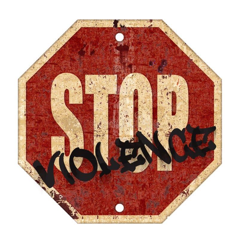 Stop Violence Sign Grunge stock illustration