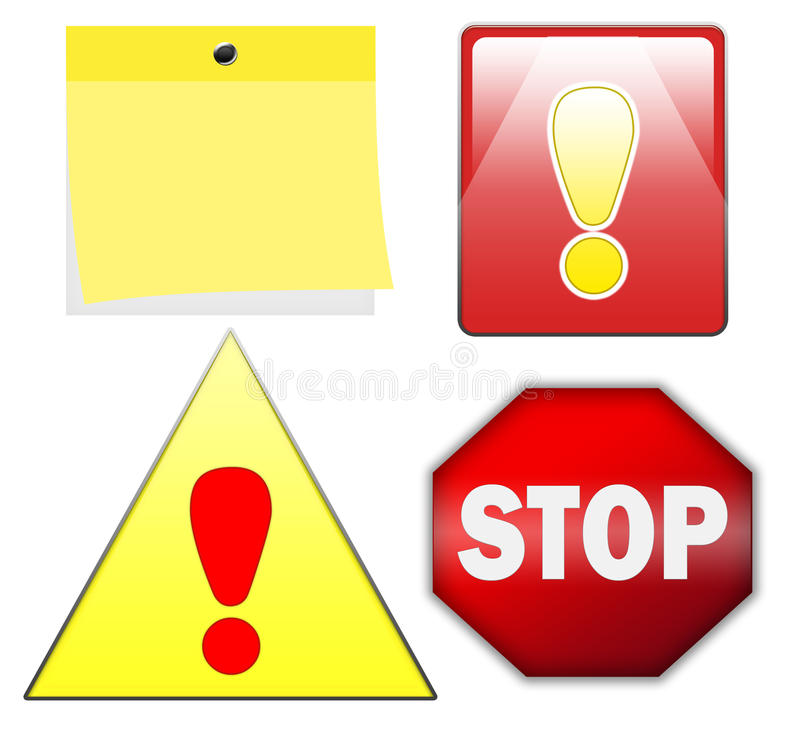 Download Stop and warning signs stock illustration. Illustration of drawing - 10580056