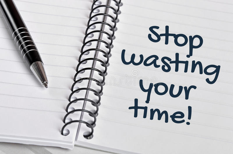 Stop wasting your time word royalty free stock image
