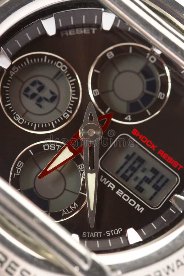 Stop watch. Electronic hours with a stop watch stock photos