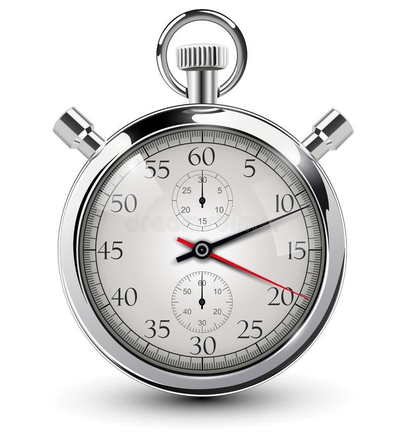 Download Stop watch stock vector. Image of classic, design, metal - 28711732