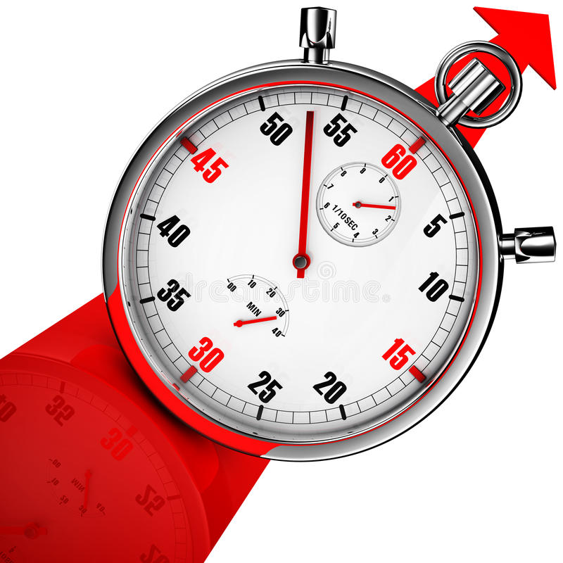 Download Stop watch stock illustration. Image of ambition, gain - 32641171