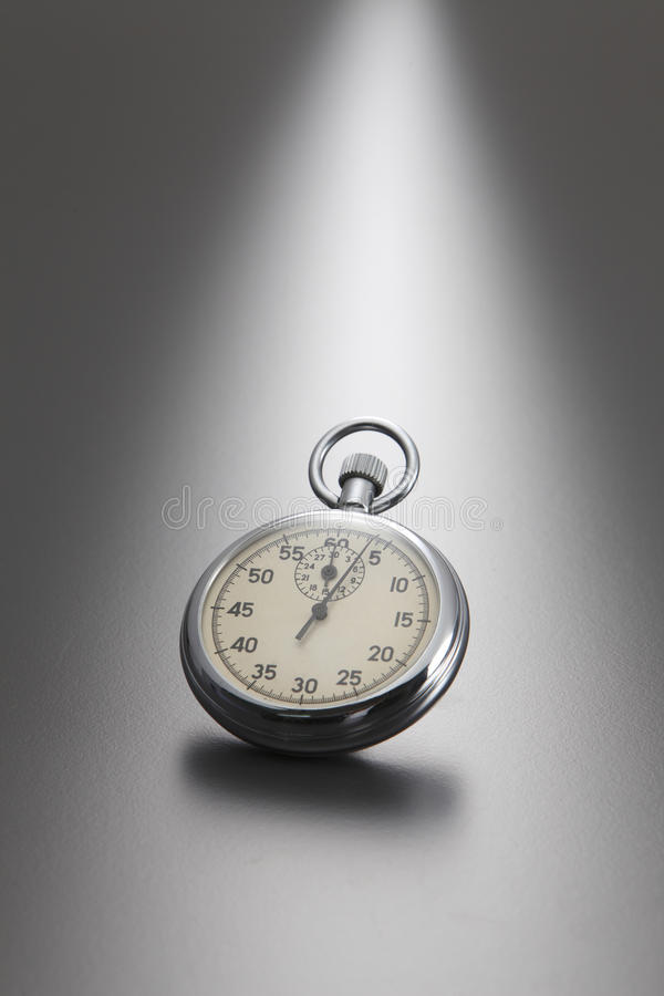 Stop watch. With gray background royalty free stock photo
