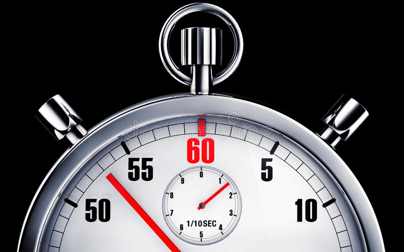 Stop watch. High resolution rendering of a stop watch stock illustration