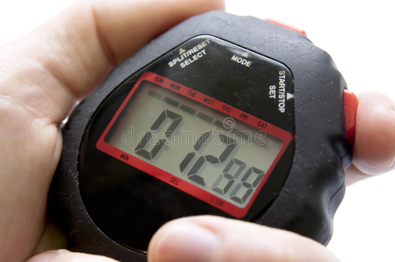Download Stop Watch Isolated In Hand Stock Image - Image: 16556483