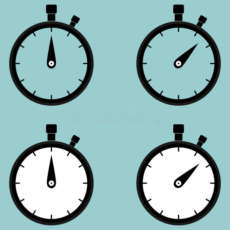 Stop watch , second counter icon. vector illustration