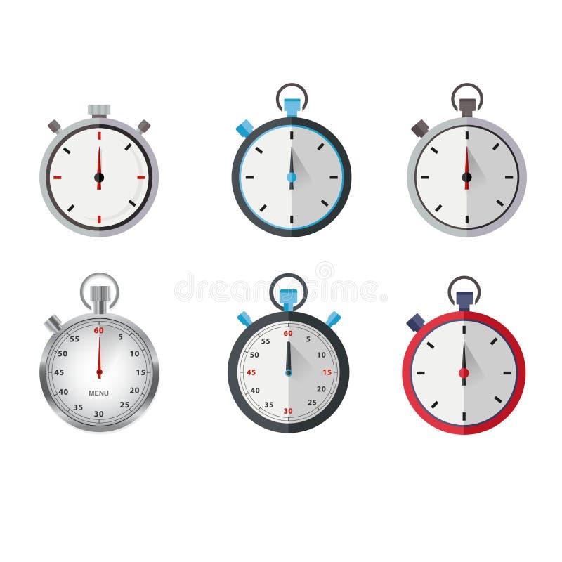 Stop watches illustration vector art vector illustration