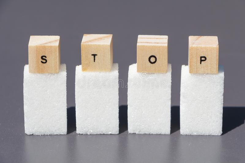Stop to sugar stock photography