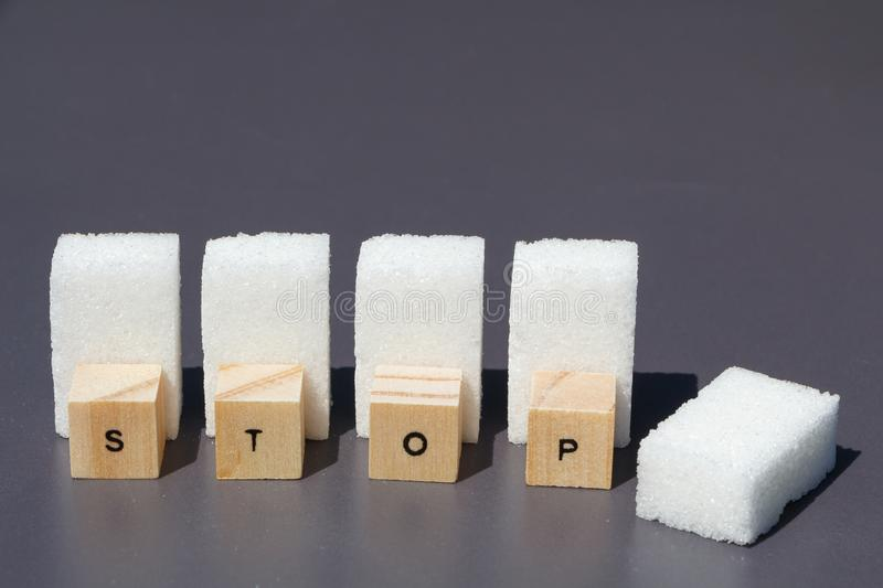Stop to sugar royalty free stock photography