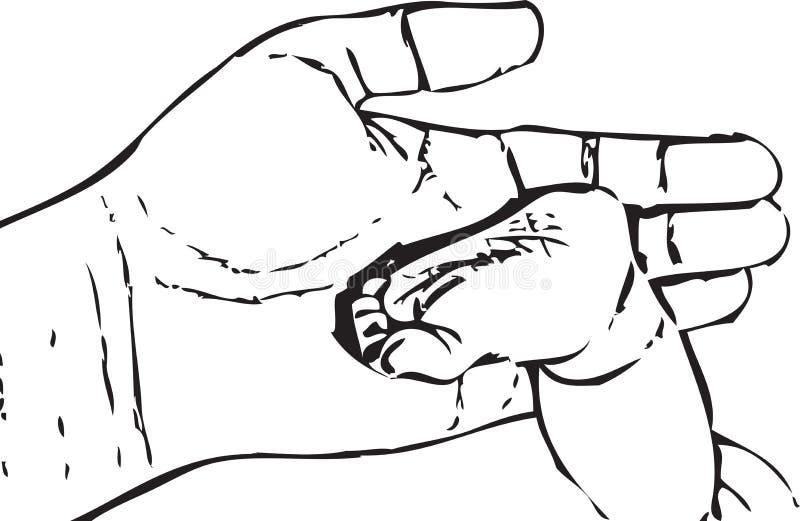 Stopa dziecko ilustracji