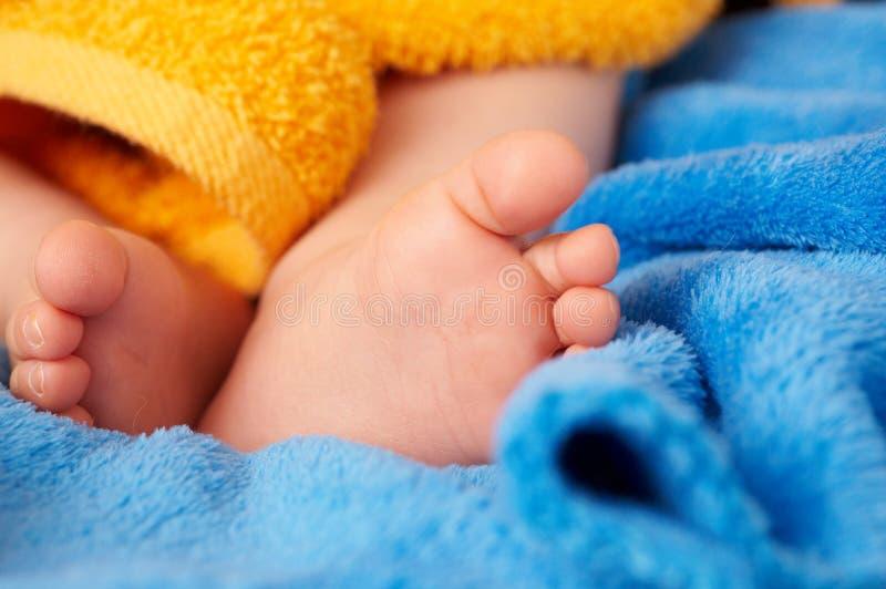 stopa jest dziecko obraz stock