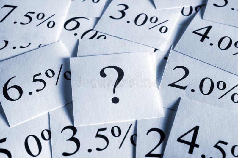 stopa procentowa zmienna zdjęcia stock