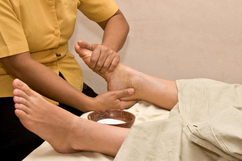 stopa spa masaż. obrazy royalty free