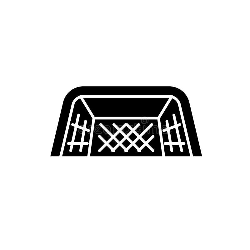 Stopa zakazuje czarną ikonę, wektoru znak na odosobnionym tle Stopa zakazuje pojęcie symbol, ilustracja royalty ilustracja