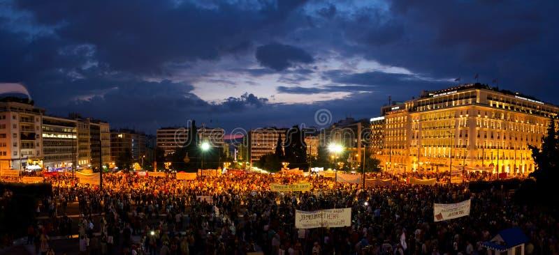 #stopausteritydemostration royaltyfria bilder