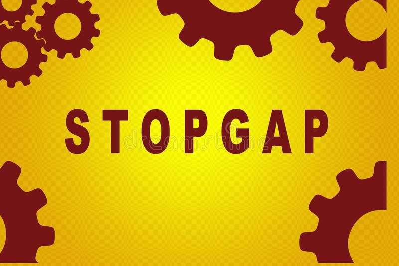 STOPGAP - έννοια κατάστασης ελεύθερη απεικόνιση δικαιώματος