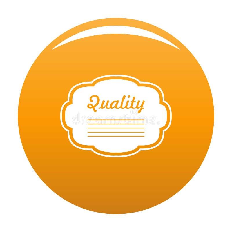 Stopień etykietki ikony pomarańcze royalty ilustracja