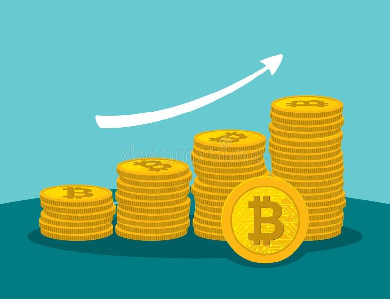Stopień wzrostu bitcoin royalty ilustracja