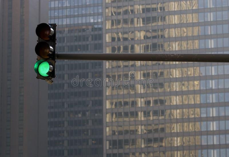 Stoplight Against Building Stock Image
