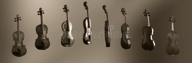 stopni 360 skrzypce. fotografia stock