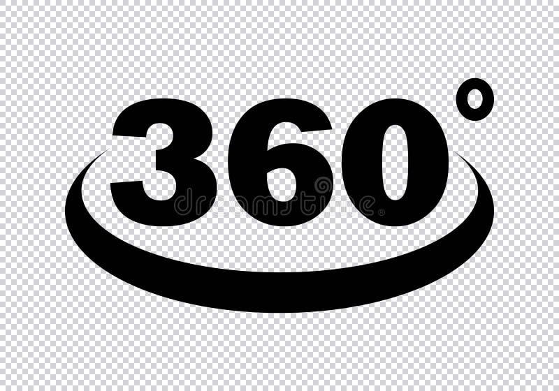 360 stopni ikon ilustracji