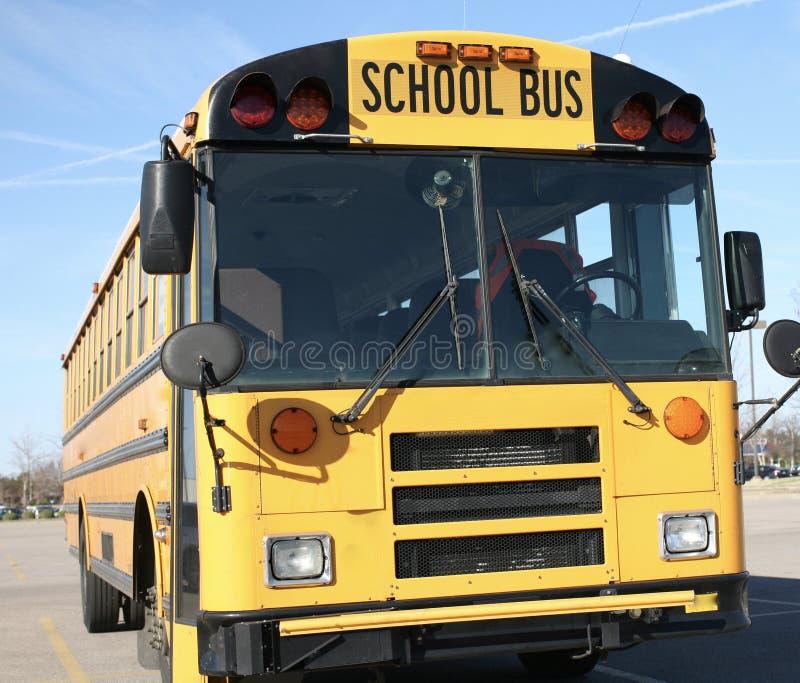 Stopnia autobus szkolny fotografia stock