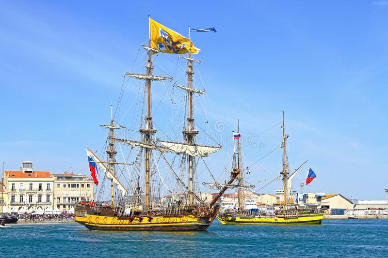 Stopover in Sete – Maritime Traditions Festival royalty free stock photo