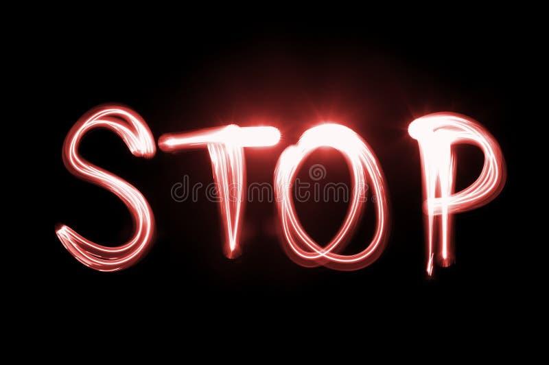 stopp arkivfoto