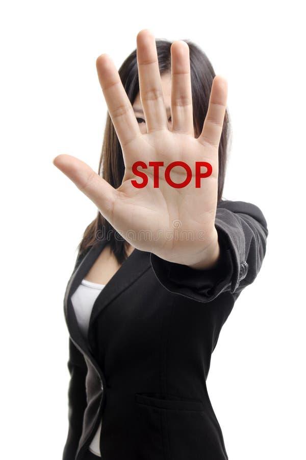 stopp royaltyfri bild