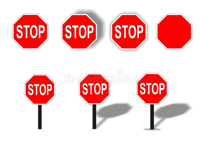 stopp royaltyfri illustrationer